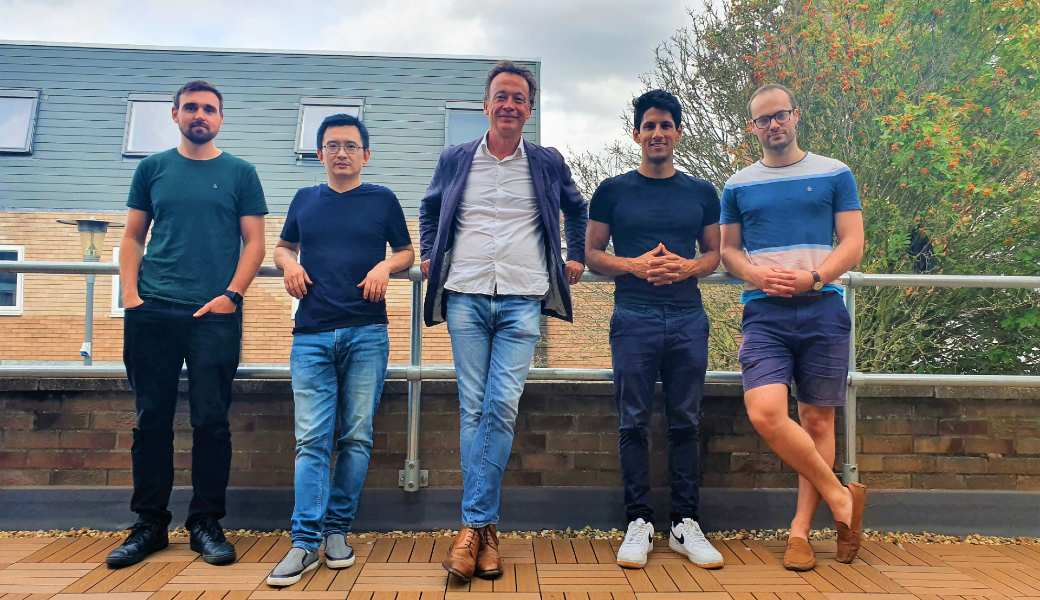 Board option 1From left to right: Dave Holden-White – techspert.io Co-Founder, newly appointed advisory board members Professor Yang Zhang and Ave Wrigley, Hari Jackson – techspert.io CTO, and Graham Mills – techspert.io Co-Founder.