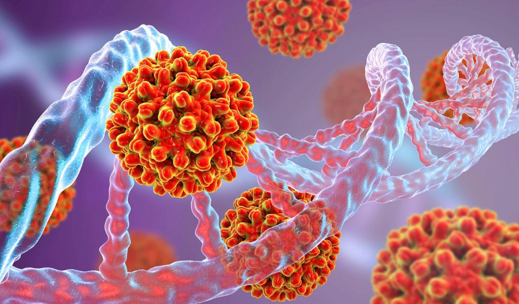 A conceptual image for viral oncogenesis.