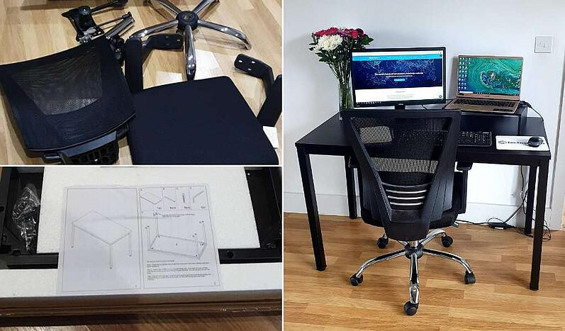 Office chair assembly and home office