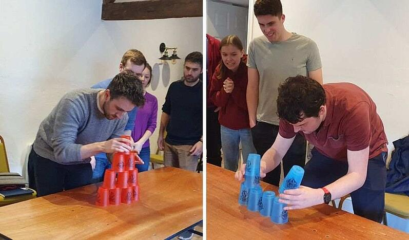 techspertians competing in cup stacking