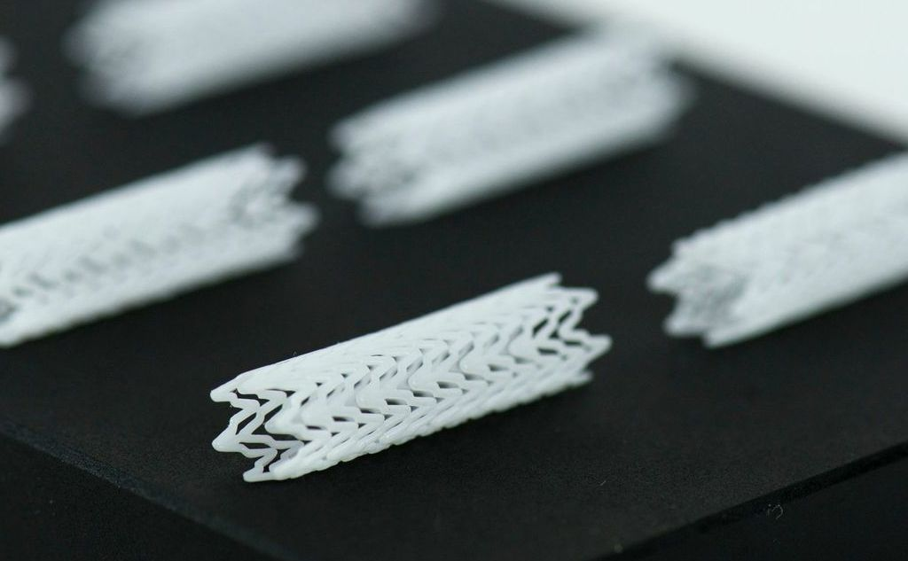 3D printed stents.