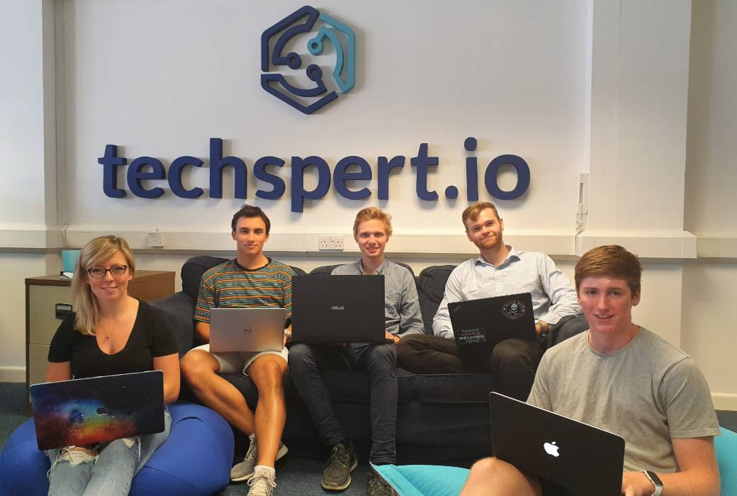 The 2019 intern class from left to right: Tara Livesey, Marcos Tapia, Preben Ness, Callum Macdonald and Rory Highnam.